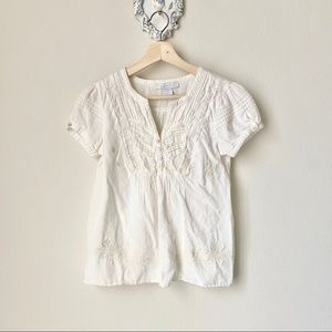 Charlotte Russe creme-white boho blouse